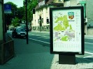 EVENT CLP dunkelbronze eloxierte City-Light-Poster Vitrine Sockelmontage